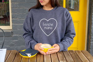 Customizable Heart Frenchie Mom Sweatshirt