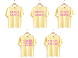 Yellow and Pink Peace Design Tee