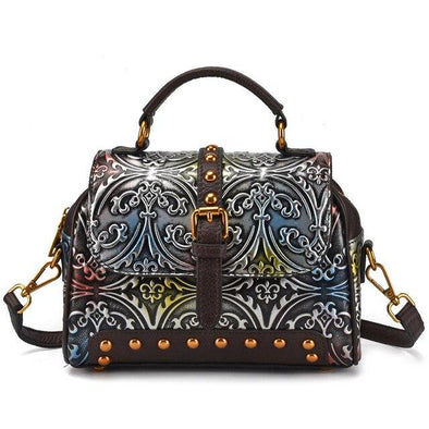 Leather Art Collection - Chest Box Leather Tote
