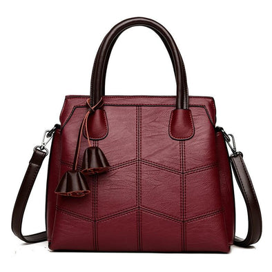 Top Handle Leather Tote Bag