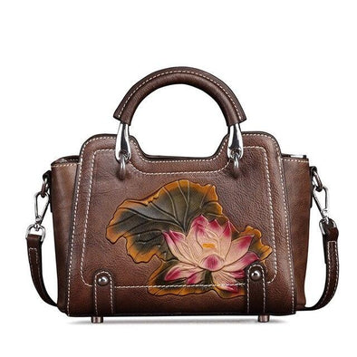 Leather Art Collection - Metal and Leather Handle Tote