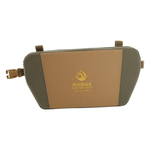 "Glassing Seat / Glassing Pad made with 1000D Cordura and Non-Slip Nylon. This seat will keep your rear warm during those cold weather sits and protect you from any harsh terrain. It comes with one National Molding ""Quick Release Clip""  male and female, made in the USA."