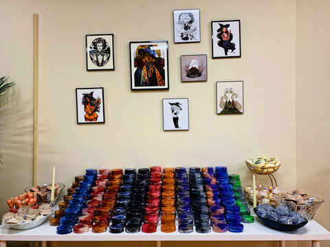 Soap and art from independent artists portraying witches at Witch Baby in Cranford