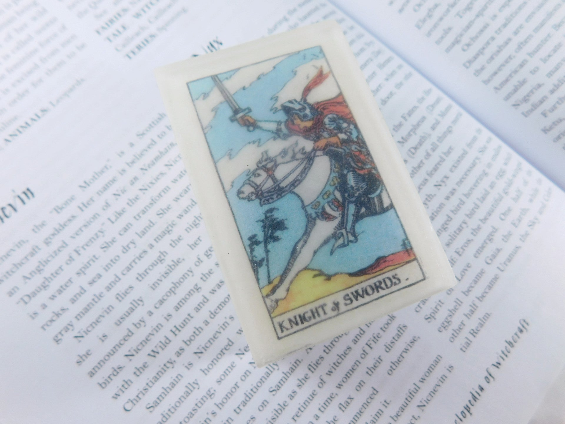 Knight of Swords Tarot Card Soap