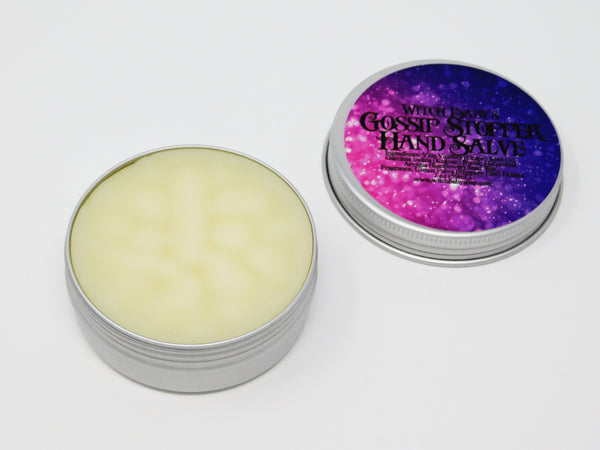 Gossip stopping moisturizing hand salve. Hand salve that smells like vanilla, clove, and cinnamon.