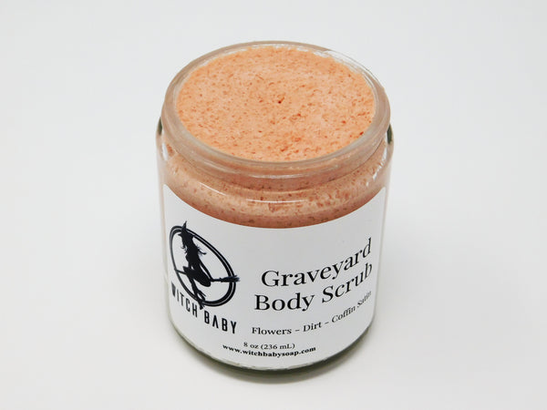 Pink and gray creamy salt body scrub. Moisturizing body scrub that smells like flowers and dirt.