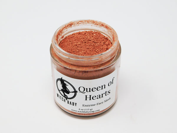 Nourishing face mask made with rose clay and fruit enzymes.