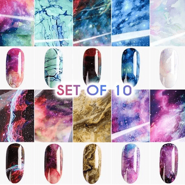 Instant Nail Art Sticker (10 Sheets)