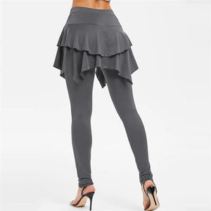 Tiered Ruffle Skirted Legging