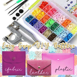 Easy Snap DIY Button Kit (150 Buttons Set)