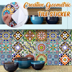 Creative Geometric Tile Sticker (10 pcs pack)