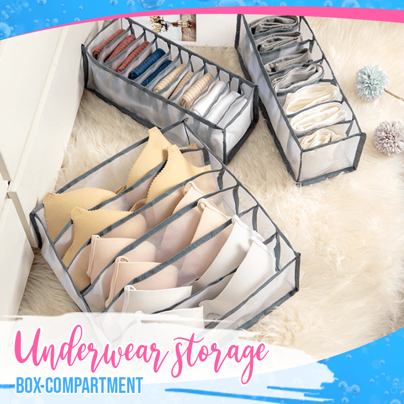 Foldable Underwear Storage Box Compartments