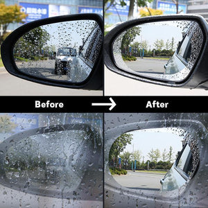 Rainproof, Anti-glare Film for Car Window / Mirror (Pack of 2 Films)