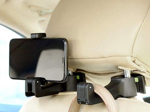 2-in-1 Car Headrest Hook and Phone Holder