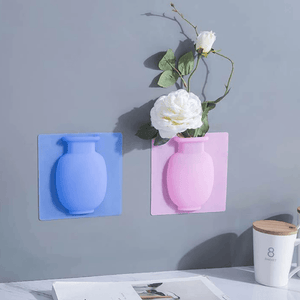 Wall-Mounted Removable Silicone Vase