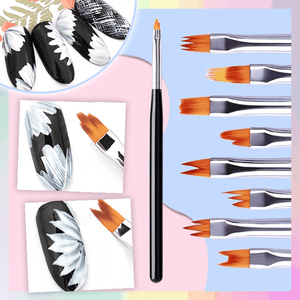Flower Petal Nail Brush Set