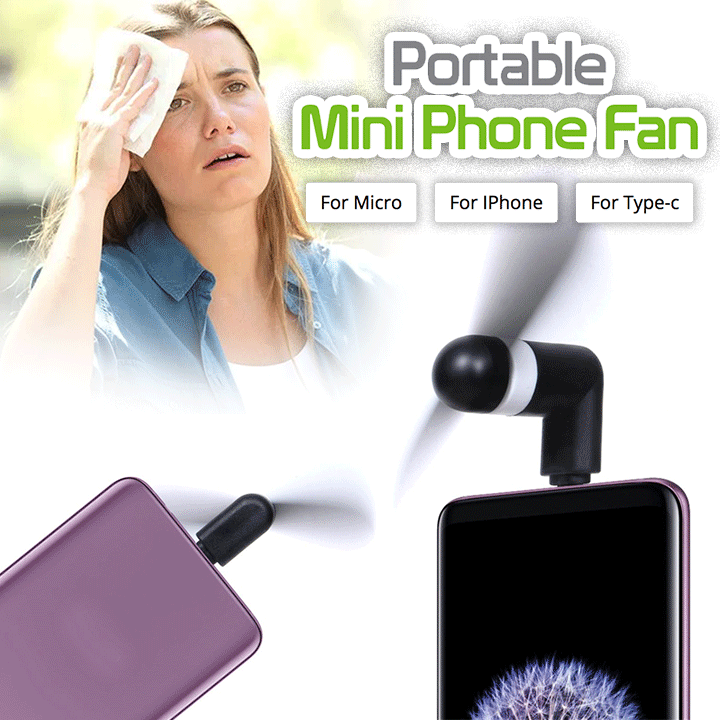 Portable Mini Phone Fan