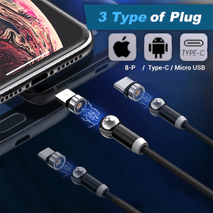 360 Rotation Magnetic Cable