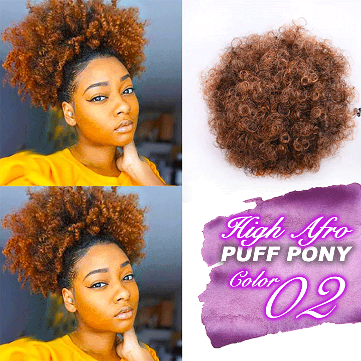 High Afro Puff Pony