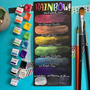 Epic Rainbow - Set of 8 Handmade Metallic Watercolour Paints