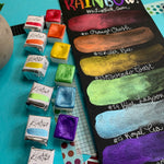 Load image into Gallery viewer, Shiny Rainbow - Set of 6 Handmade Metallic Watercolour Paint