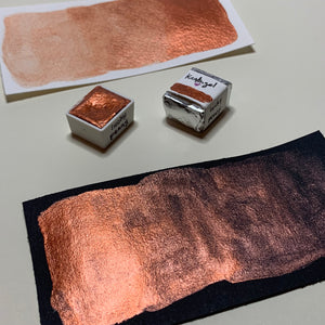 #05 Lucky Penny - Handmade Metallic Watercolour Paint - Half Pan