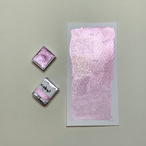 #13 Daydream - Handmade Metallic Glitter Watercolour Paint - Half Pan