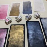Load image into Gallery viewer, Sweet Dreams - Set of 4 Handmade Metallic Watercolour Paint - Four Half Pans