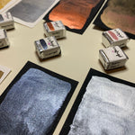 Load image into Gallery viewer, Dreamy Metallics - Set of 8 Handmade Metallic Watercolour Paint - Eight Half Pans