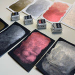 Load image into Gallery viewer, Opulent Soirée - Set of 4 Handmade Metallic Watercolour Paint - Four Half Pans