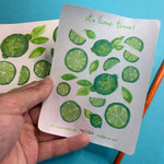 Load image into Gallery viewer, It's Lime Time! - Small Semi Transparent Vellum Sticker Sheet