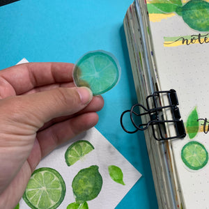 It's Lime Time! - Small Semi Transparent Vellum Sticker Sheet