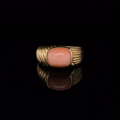 Cartier 18ct Yellow Gold Coral Cocktail Ring