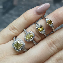 Canary diamonds at Michael Rose London