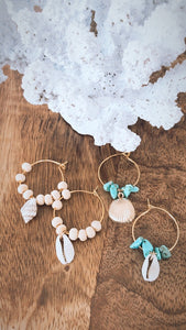 Simple wood & Shell hoops
