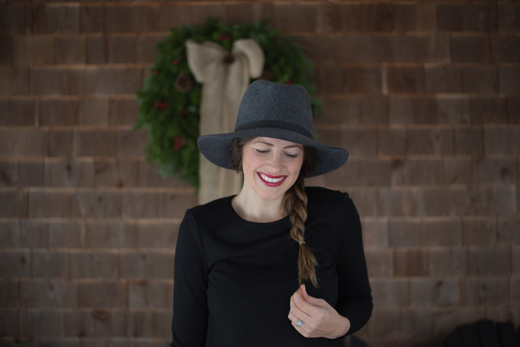 How-to Style a Hat with Long Brown Hair