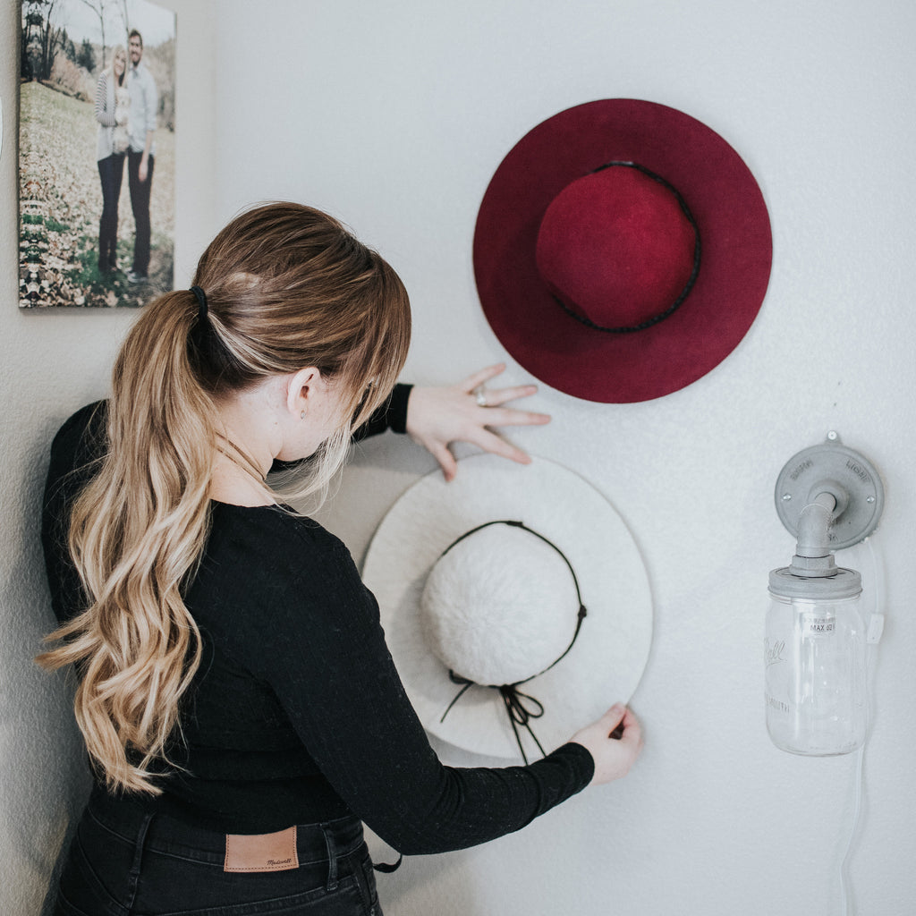 How To Hang Hats On Your Wall Womens Hats Gigi Pip