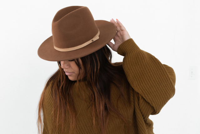 genuine leather hat band
