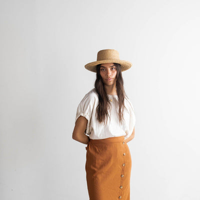 GIGI PIP Hats for Women- 2020 Sloan Straw Hat - Updated Style-Straw Hats