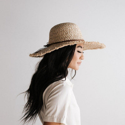 GIGI PIP Hats for Women- Addie Straw Floppy Hat-Straw Hats