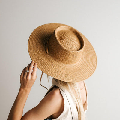 GIGI PIP Hats for Women- Aiden Straw Pork Pie - Natural-Straw Hats