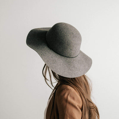 GIGI PIP Hats for Women- Annabella Floppy Hat - Heather Grey-Felt Hats