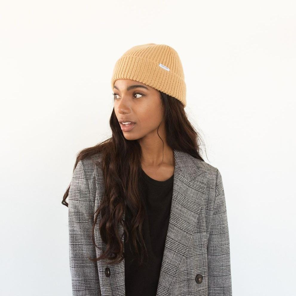 GIGI PIP Hats for Women- Ash Fisherman Beanie - Camel-Beanie