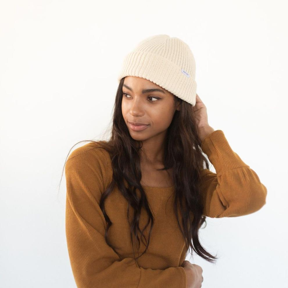 GIGI PIP Hats for Women- Ash Fisherman Beanie - Oatmeal-Beanie