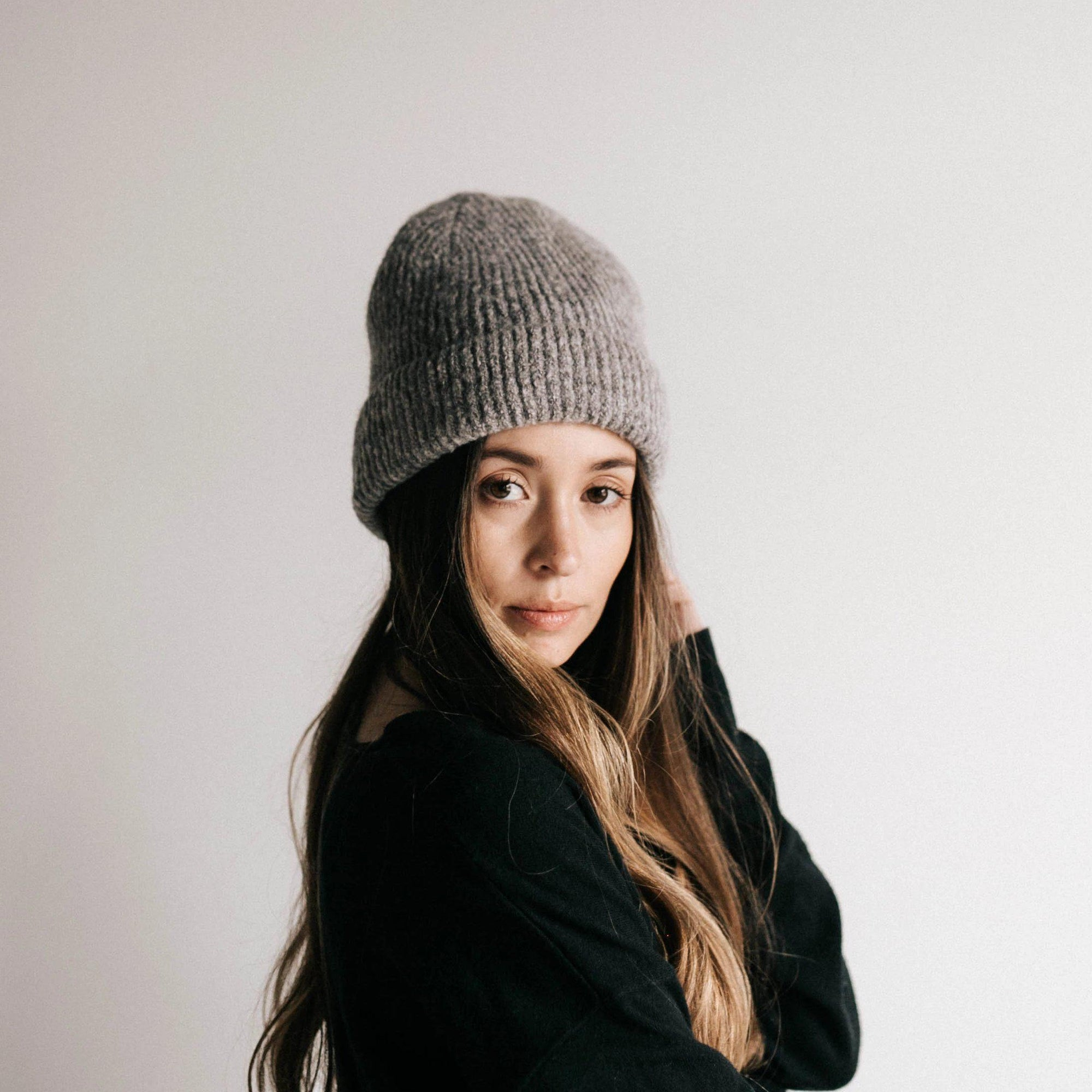 GIGI PIP Hats for Women- Ava Beanie - Grey-Beanie