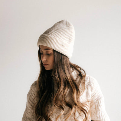 GIGI PIP Hats for Women- Ava Beanie - Ivory-Beanie