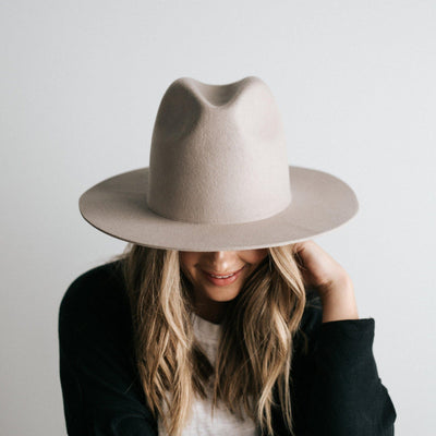 GIGI PIP Hats for Women- Billie Tall Fedora - Ivory-Felt Hats