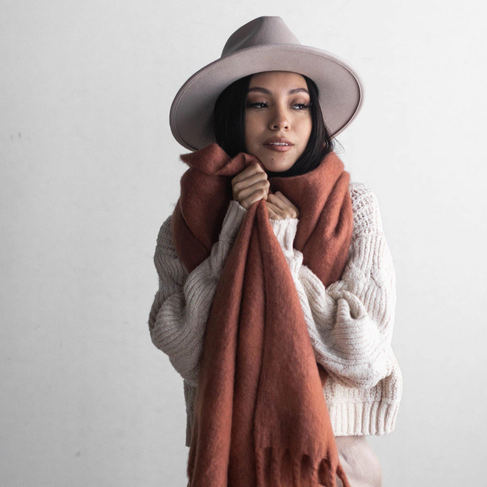 GIGI PIP Hats for Women- Blanket Scarf - Cinnamon-Scarf