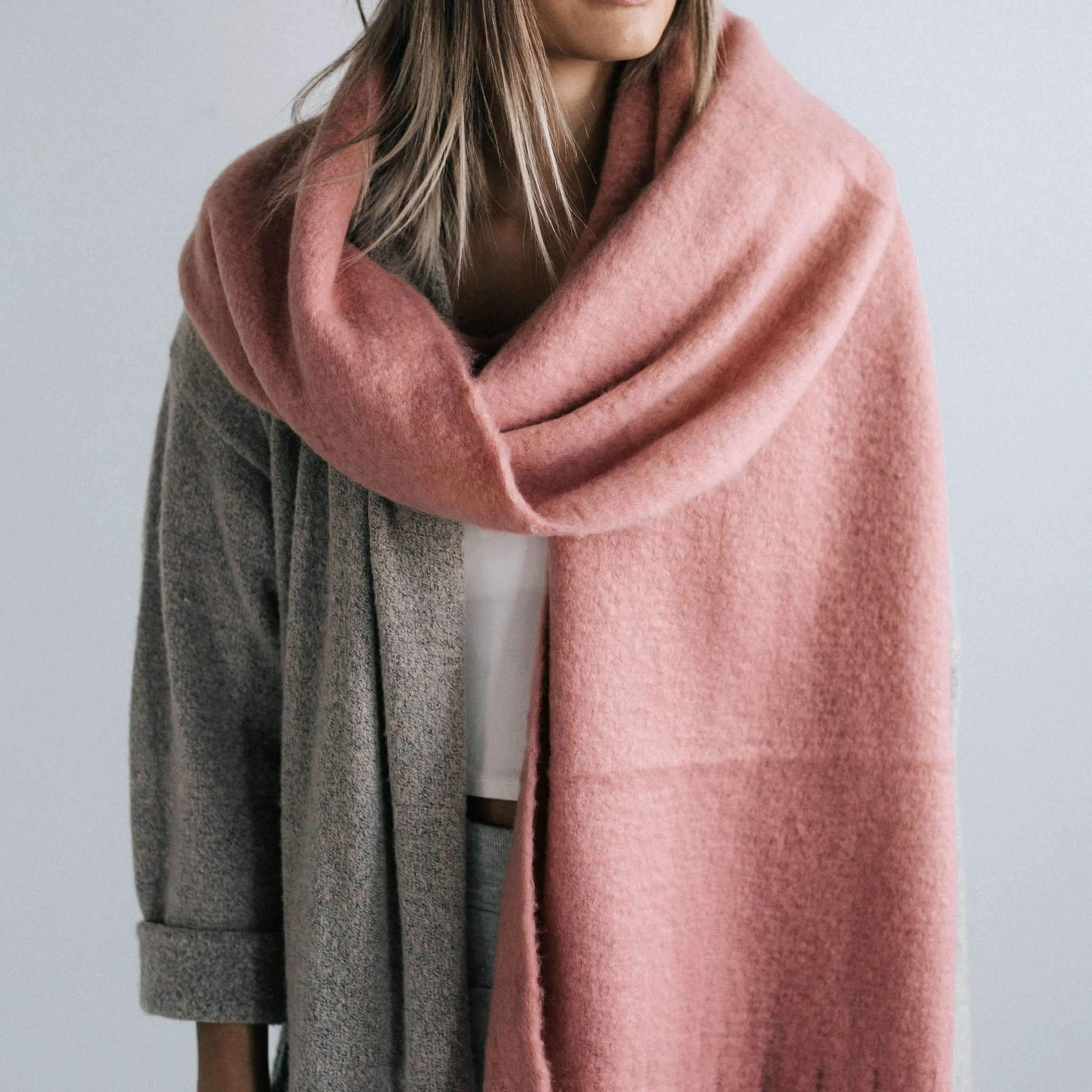 GIGI PIP Hats for Women- Blanket Scarf - Pink-Scarf