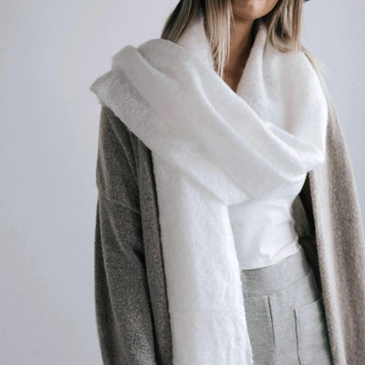 GIGI PIP Hats for Women- Blanket Scarf - White-Scarf
